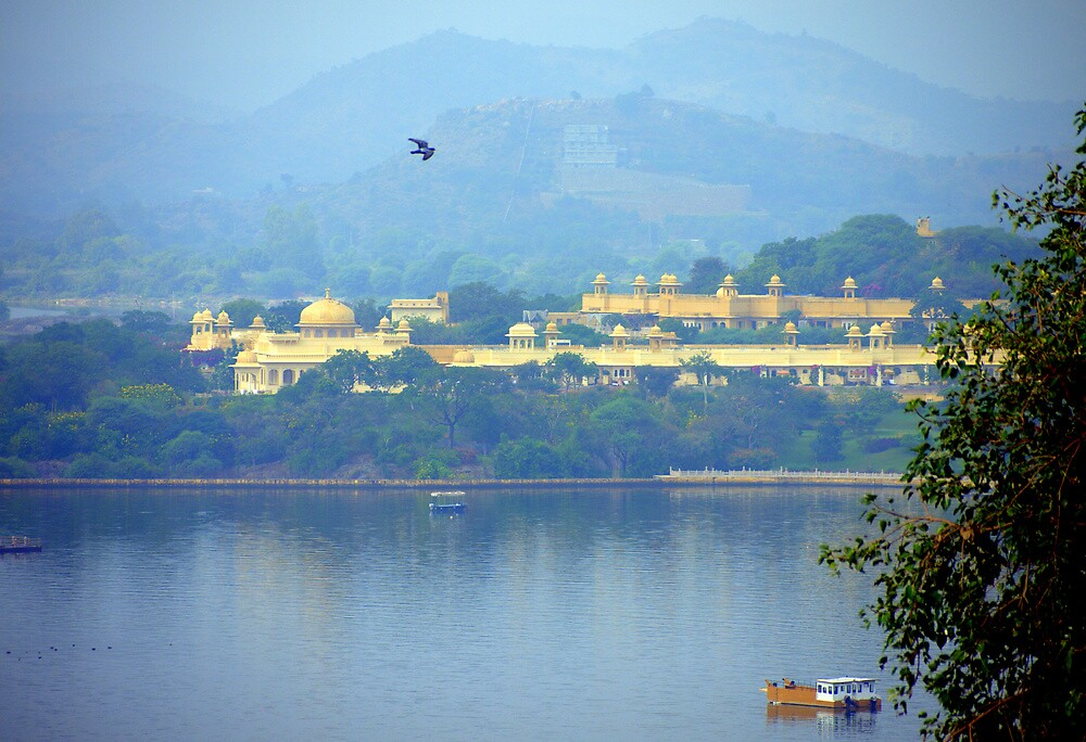 Flying over Lake Pichola by Brian Bo Mei