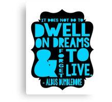 Albus Dumbledore Quote Typography Canvas Print