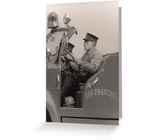 old fireman Greeting Card