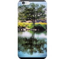 Single Tree Reflection on the Riverside  iPhone Case/Skin