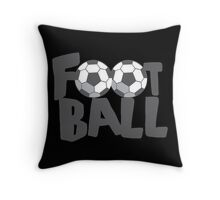 FOOTBALL with soccer balls Throw Pillow