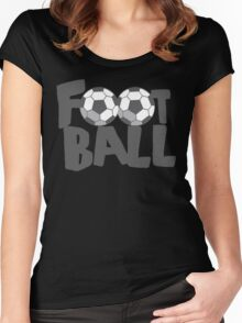FOOTBALL with soccer balls Women's Fitted Scoop T-Shirt