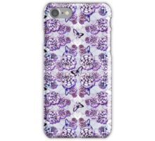 Succulent Motif and Butterfly #  Purple iPhone Case/Skin