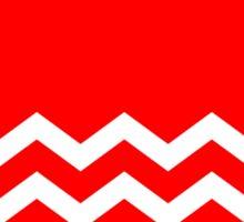 Beautiful Cushions/Chevron/ Red White Sticker