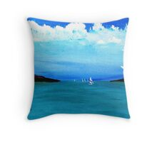 Goin Out Early...............S A I L I N' Throw Pillow