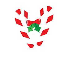 Candy canes candy for Christmas with a bow Photographic Print