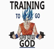 Training to go Super Saiyan God Kids Tee