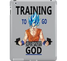 Training to go Super Saiyan God iPad Case/Skin