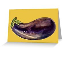 Aubergine & Mustard Still Life Greeting Card