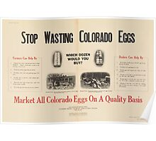 United States Department of Agriculture Poster 0192 Stop Wasting Colorado Eggs Poster