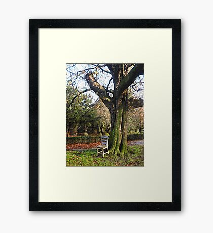 Enjoy the scenery! Framed Print