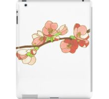 Pink on White Blossoms iPad Case/Skin