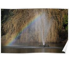 rainbow fountain Poster