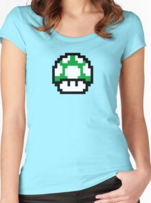 1 Up Mushroom Women's Fitted Scoop T-Shirt