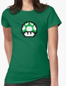 1 Up Mushroom Womens Fitted T-Shirt