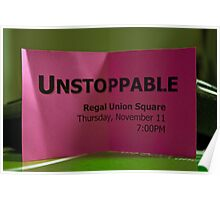 Free Ticket To The Movie Unstoppable  Poster