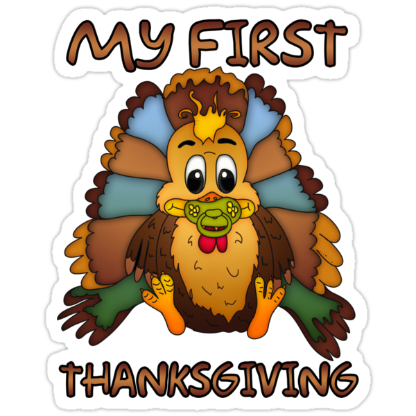 Baby's First Thanksgiving T-Shirt by Moonlake