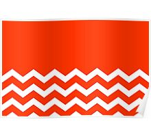 Beautiful Cushions/Chevron/  Orange White Poster