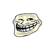 Troll Face Photographic Print