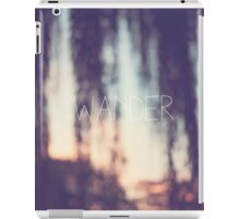 wander, sunset iPad Case/Skin