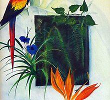 window to rain forest  by Lynn Hughes