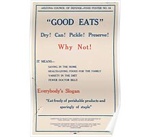 United States Department of Agriculture Poster 0187 Good Eats Dry Can Pickle Preserve Poster