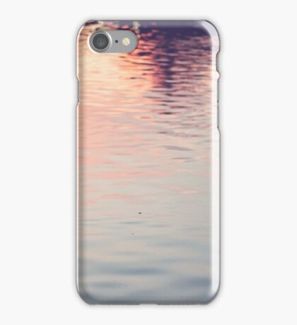 sunset in the pond iPhone Case/Skin