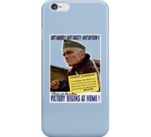 Produce For Your Navy - Victory Begins At Home iPhone Case/Skin