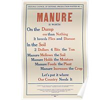 United States Department of Agriculture Poster 0080 Manure Dump Less than Nothing Breeds Flies Disease Poster