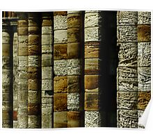 Columns - Whitby Abbey Poster