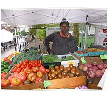 Fresh produce in Copley Plaza, Boston Poster