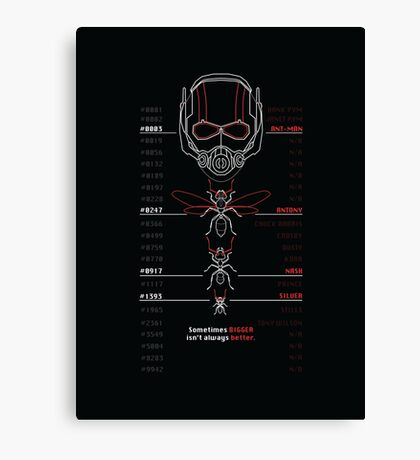 Ant-Man Team Roster Design Canvas Print