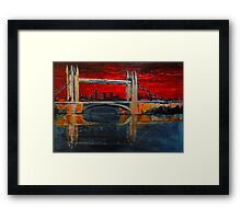 Under a blood red sky Framed Print