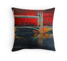 Under a blood red sky Throw Pillow