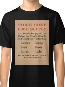 United States Department of Agriculture Poster 0277 Store Home Food Supply Potatoes Cabbage Beans Onions Carrots Apples Economic and Nutritious Classic T-Shirt