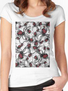 Black Widow Nest Women's Fitted Scoop T-Shirt