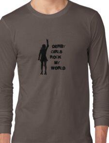Derby Girls Rock My World (black) Long Sleeve T-Shirt