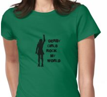 Derby Girls Rock My World (black) Womens Fitted T-Shirt