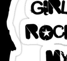 Derby Girls Rock My World (black) Sticker