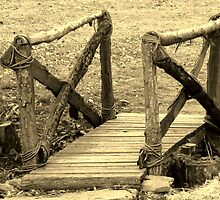 Civil War Camp Footbridge by wallace66