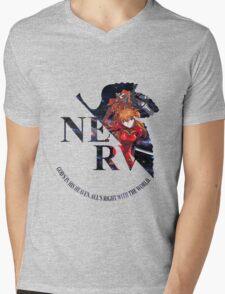 neon genesis evangelion asuka soryu anime manga shirt Mens V-Neck T-Shirt