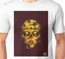 Golden Widow Skull Unisex T-Shirt
