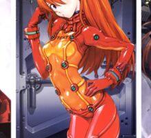 neon genesis evangelion rei ayanami asuka soryu maro illustrious anime manga shirt Sticker