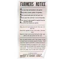 United States Department of Agriculture Poster 0076 Garden Vegetables Seeds Soil Care Table Plant Poster