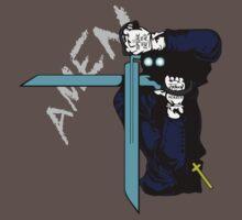 hellsing ultimate alexander anderson amen anime manga shirt by ToDum2Lov3