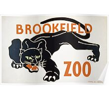 WPA United States Government Work Project Administration Poster 0269 Brookfied Zoo Black Panther Poster
