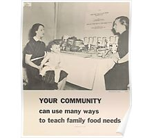 United States Department of Agriculture Poster 0086 Your Community Teach Family Food Needs Poster