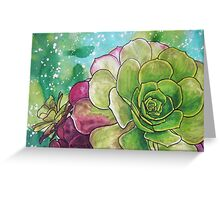 Succulent Rose Greeting Card