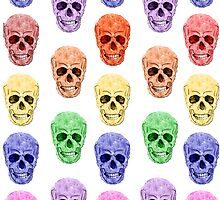 Skull Rainbow by amanda metalcat dodds