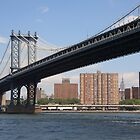 Manhattan Bridge - New York City by Frank Romeo